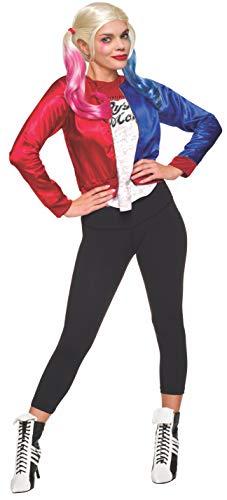 Disfraz del escuadrón suicida, personaje deHarley Quinn, Joker (tamaño mediano), oficial de Rubie