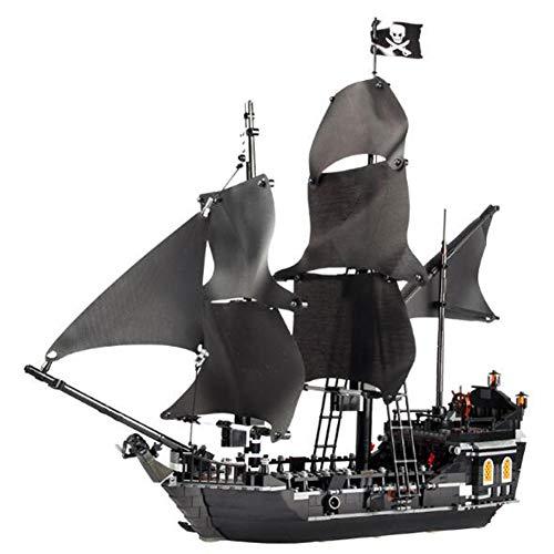 DIY Mano Piratas Del Caribe, Rompecabezas Perla Montaje De Juguete Modelo Para Niños Y Adultos Y Bloques De Montaje Del Juguete Modelo Negro Perla,Amarillo