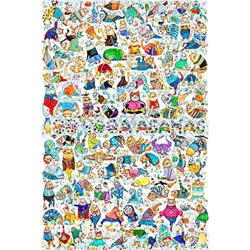 DJHOLI 500 1000 1500 2000 4000 Piezas Rompecabezas de Madera para Adultos y niños, Juguetes de Juego de Rompecabezas Grandes Errol de Arte - Yoga 100 Poses, Juguete Educativo intelectivo