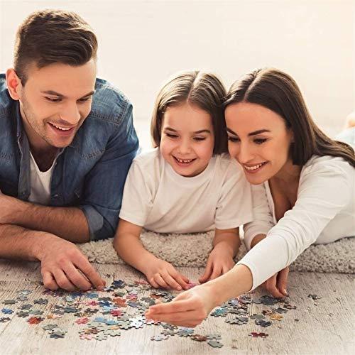 DJHOLI 500 1000 Piezas de rompecabezas de madera, juguetes de rompecabezas grande para niños adult, universo planetas espacio educativo jigsaw puzzle divertido dato cartel, desafiante rompecabezas jue