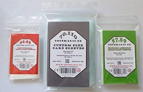 docsmagic.de Scythe Sleeves Bundle - 3 Packs - 44 x 68 - 57 x 59 - 70 x 110
