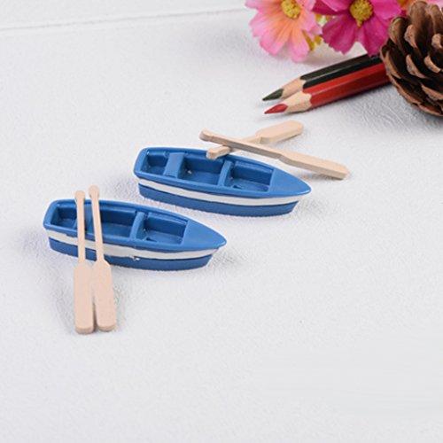 Dollhouse Casa De Muñecas Miniatura Barcos Paisaje Jardín Artesanía Decoración