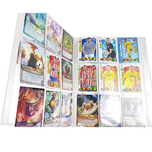DS Toys Álbum de Fundas para Cartas 30 páginas Álbum de Cartas Colección Álbum Collection (270 cuadrículas para Cartas), Género Neutro, Transparente, Cromos (801972)