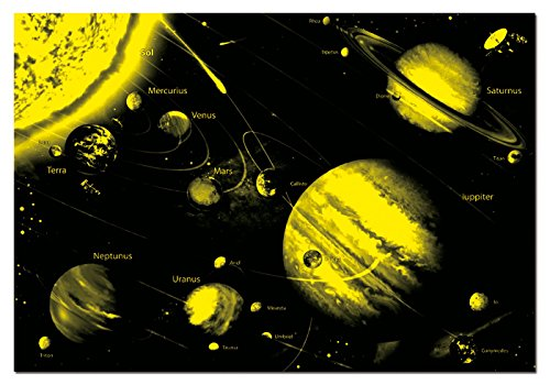 Educa-Sistema solar Neon Puzzle, 1000 Piezas, multicolor (14461)