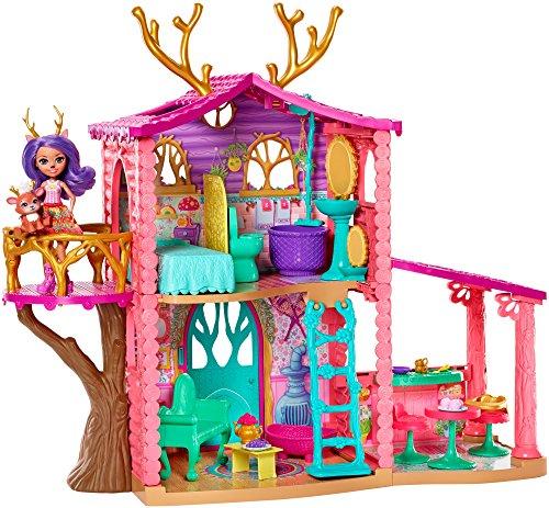 Enchantimals - Supercasa del bosque y muñeca Danessa, edad recomendada: 4 - 10 años (Mattel FRH50)