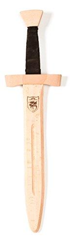 Fantashion W 616 Espada Corta con Mango de Cuero, marrón Oscuro