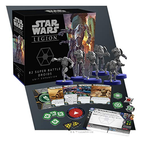 Fantasy Flight Games Star Wars Legion: B2 Super Battle Droids Expansión Unidad de Expansión, Colores Mezclados, SWL62