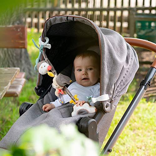 Fehn 060492 Bruno - Cadena para cochecito de bebé con adorables figuritas colgantes, multicolor