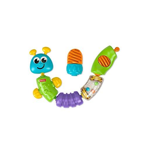 Fisher-Price Gusanito encaja y descubre, juguete educativo bebe +6 meses (Mattel W9834)