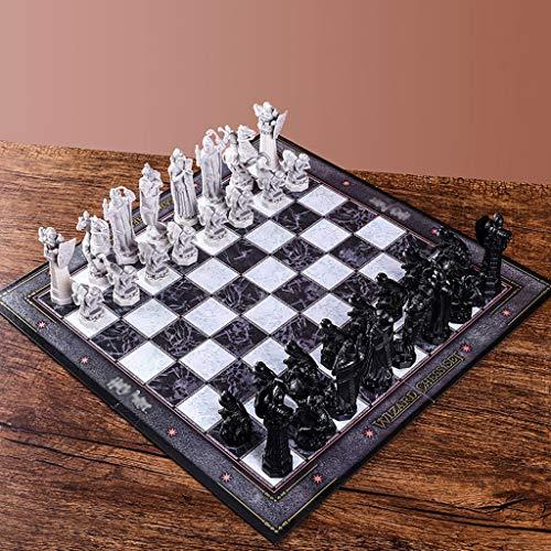 FOLA Ajedrez y Damas Conjunto, Harry Potter Asistente Juego de ajedrez, Regalo for los Amantes Internacional de Ajedrez/Principiantes y aprendices