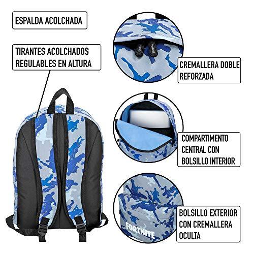Fortnite - Mochila Camuflaje azul 31 x 43 cm (77080)