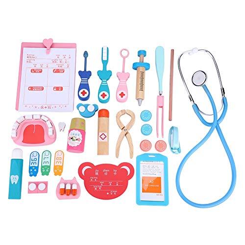 FTVOGUE Juego de niños médico de Madera, Juego médico, Juguete, Kit médico, Juego de rol médico con Accessaries