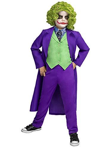 Funidelia   Disfraz de Joker Oficial para niño Talla 10-12 años ▶ Superhéroes, DC Comics, Villanos - Multicolor