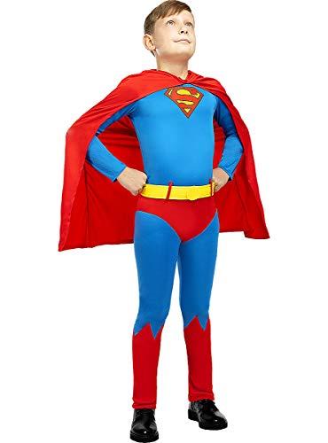 Funidelia   Disfraz de Superman Classic Oficial para niño Talla 7-9 años ▶ Hombre de Acero, Superhéroes, DC Comics, Justice League - Multicolor