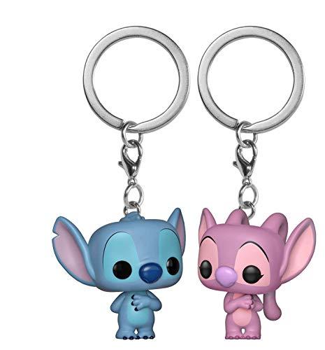 Funko 36370 Pocket POP llavero paquete de 2: Lilo & Stitch: Stitch & Angel, Multi
