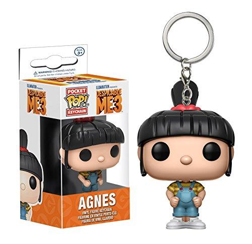 Funko De mi villano favorito 3, Agnes, como un estilizado llavero POP de bolsillo