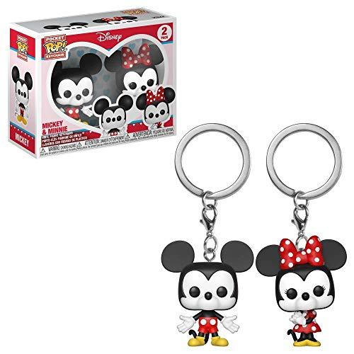 Funko Pop!- Pack llaveros Pocket Pop Disney Mickey Minnie&, Multicolor (36368)