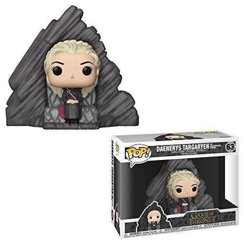 Funko- Pop Rides: Game of Daenerys On Dragonstone Throne Juego De Tronos Targaryen Figura Coleccionable de Vinilo, Multicolor, Standard (29165)