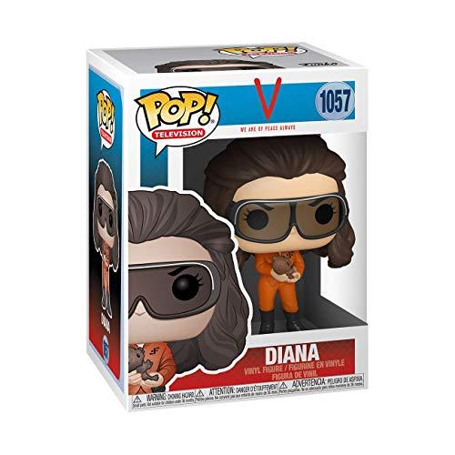Funko- Pop V TV Show-Diana in Glasses w/Rodent Figura Coleccionable, Multicolor (52029)
