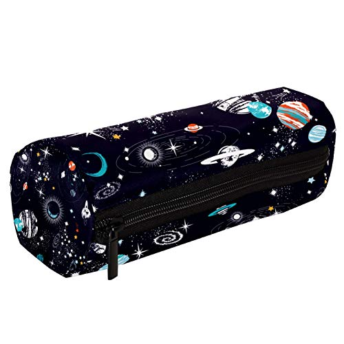 Galaxy Space Planets Estuche para lápices con cremallera, organizador de monedas, bolsa de papelería, bolsa de maquillaje para mujeres, adolescentes, niñas, niños y niños