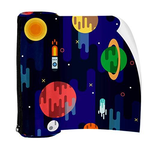Galaxy Space Rocket Planets Estuche para lápices con cremallera, organizador de monedas, bolsa de papelería, bolsa de maquillaje para mujeres, adolescentes, niñas, niños y niños