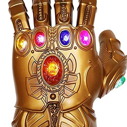 Ginkago Thanos Guantes, Guantes de látex de los Vengadores Infinity War Thanos Infinity Guanteletes LED, Thanos Cosplay Guantes de látex Accesorios de Fiesta de Halloween (Kids Style)