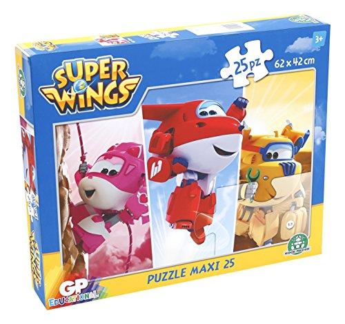 Giochi Preziosi–Super Wings Puzzle Maxi, 25Unidades
