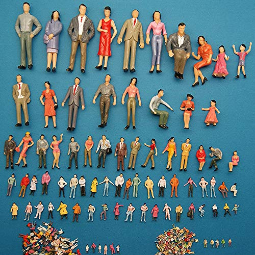 Gobesty 100 figuras pintadas para modelismo de posición de personas H0 1:87