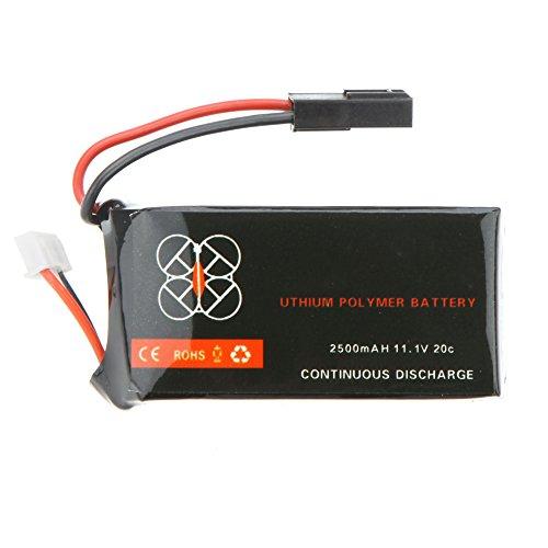 Goolsky Batería Lipo 20C 11.1V 2500mah Actualizado para Parrot AR.Drone 2.0 Quadcopter