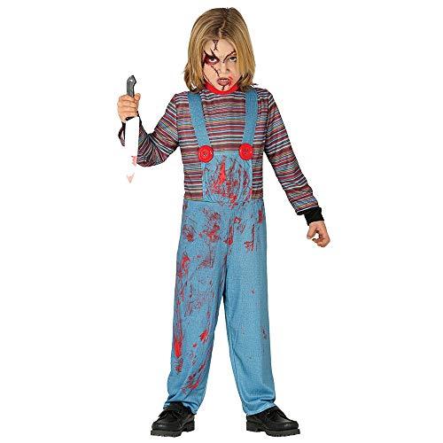 Guirca - Disfraz Chuckie para niño de 10/12 años, color azul y rojo, de 10 a 12, 87800.