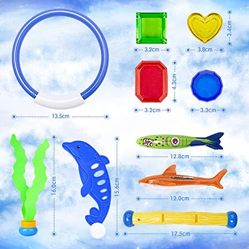 GVOO Juguete Acuático para Piscina,Juguetes de Buceo, Juego Piscina,Conjuntos de Juegos de Agua,Aventura Subacuática Verano Divertidos Juego,Gorro de Natación,Regalo para niños