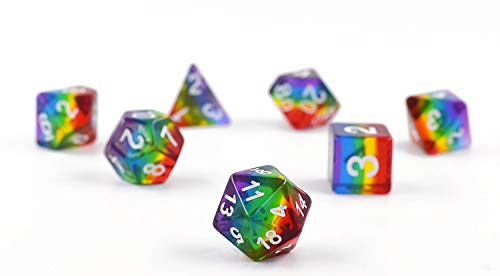 HARMILIY Dados de Juego para Dungeons and Dragons DND RPG MTG Poliédrico Dados D20 D12 D10 D8 D6 D4 de Mesa Juegos de Cartas