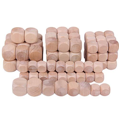 Healifty - Lote de 20 dados en blanco de madera con forma de dados redondos de madera para accesorios de juego de rol, suministros de fiesta (25 mm)