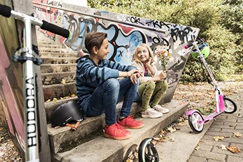 Hudora 14738 Big Wheel GC 205 - Patinete (ruedas de 205 mm), color plateado y rosa