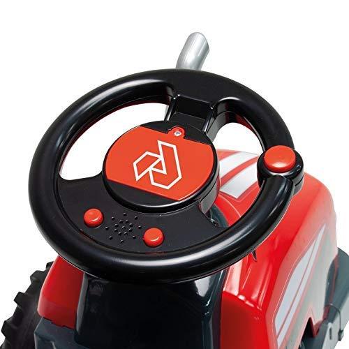 INJUSA - Tractor Little 2 en 1 Eléctrico de 6V y Correpasillos para Niños entre 1 y 3 Años, color rojo (1505)
