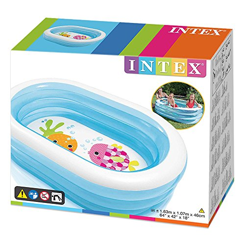 Intex 57482NP - Piscina hinchable My Sea Friends 163 x 107 x 46 cm 230 litros , color/modelo surtido