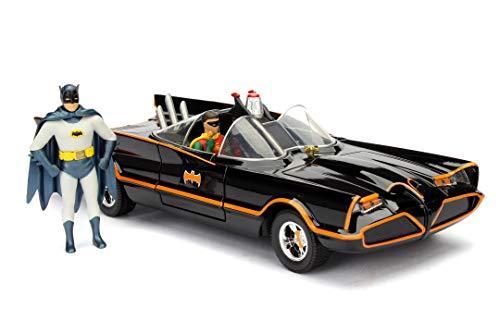 Jada- Batmóvil Coche Metal 1966 Classic Serie TV con Figura 1:24 coleccionismo, Color negro (253215001)