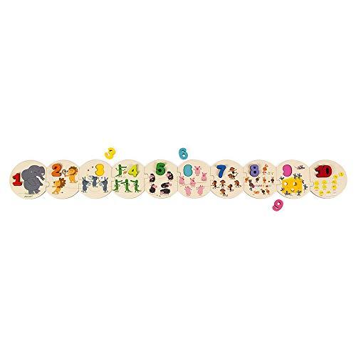 Janod Puzle para Aprender A Contar, Multicolor (Juratoys SAS J02706)