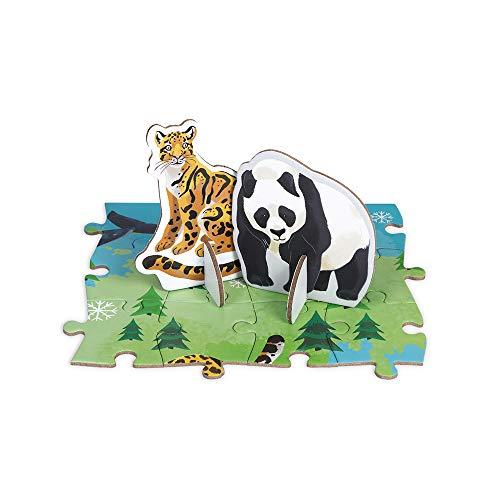Janod- Puzzle Infantil 350 Piezas Especies prioritarias Juego Educativo-Asociación WWF-Cartón Certificado FSC-A Partir de los 7 años (JURATOYS J08633)