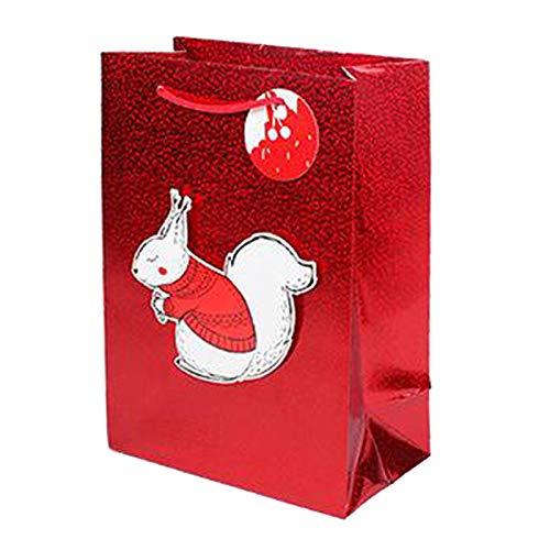 joyMerit Bolsas Navideñas Tienda de Regalos Inicio Venta Al por Menor Bolsas de Embalaje Bolsa de Embalaje Duradera para - Ardilla