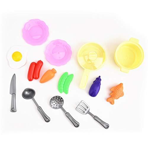 Juego de roles Juguete de Cocina 26 UNIDS Conjunto de juguetes de cocina para niños Escenas de cocina Simulación Mini Utensilios de cocina Juguetes (azul)