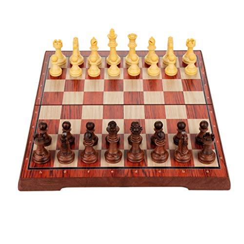 Juegos de mesa Conjunto de ajedrez magnético de ajedrez de plástico para niños para adultos de viaje de viaje, juego de ajedrez plegable, placa de ajedrez, aprendices proporcionan regalos juego de aje