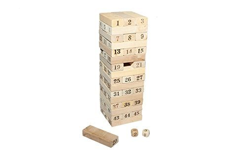 Juguetutto - Yenga Números- Juguete de madera