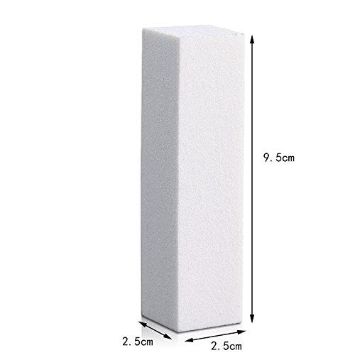 JUNGEN 3X Bloque Pulido para Uñas Lima para Arte Uñas Profesional Manicura Pedicura Accesorios - 9.5*2.5*2.5cm