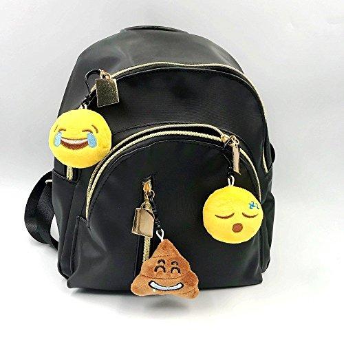 JZK 45pcs Mini Juguete de Peluche, Emoji Llavero emoticonos Llavero emoción para niños & Adulto Fiesta cumpleaños favores Rellenos Bolso Partido Decoraciones para Fiestas ( 5cm / 2 Pulgadas)
