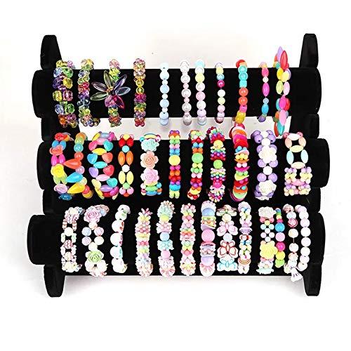 KAIMIRUI 1200pcs Cuentas para la Fabricación de Joyas para Niños Pulseras Collares de Joyas para Niñas Niños Bricolaje Conjunto de Cuentas (Pulsera)