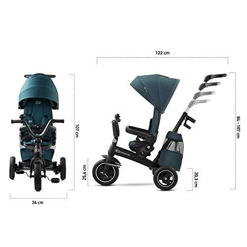 Kinderkraft Triciclo Evolutivo EASYTWIST, Retirable, Asiento Giratorio 360 Grados, 9 Meses a 5 Años, Verde