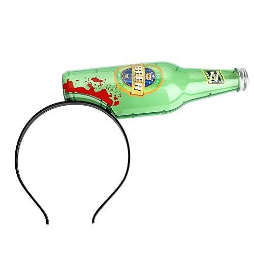 KIRALOVE Cinta para el Pelo de Botella Rota - Efecto Sangre - Juego - Juguete - Disfraz - Disfraces - Halloween - Zombie - Monstruo - Divertido - Broma - Idea de Regalo Original Zombie