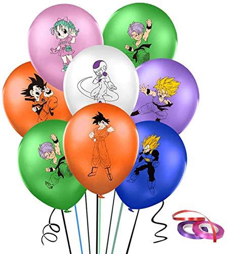 Kit de Globos de Dragon Ball 42 Piezas Artículos de Fiestas para Fanáticos de Dragon Ball Decoraciones para Fiestas Temática Goku Gohan Animados para Niños Adultos Fans