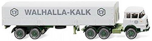 """Krupp 806 vagón contenedor-camión con trailer """"Walhalla Kalk"""" - Modelo de Auto, modello completo - Wiking 1:87"""